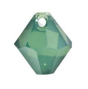 #6301 - 8mm Swarovski Top Hole Bicone Pendant- Palace Green Opal