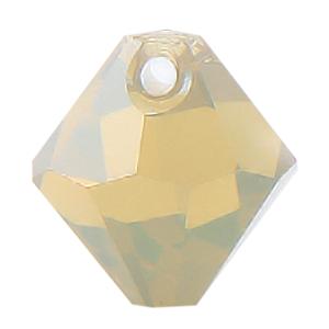#6301 - 8mm Swarovski Top Hole Bicone Pendant- Sand Opal
