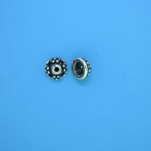15256 - Bali Silver Bead Cap 4x7mm