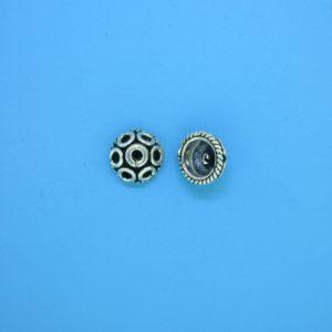 15257 - Bali Silver Bead Cap 4x8mm