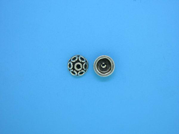15258 - Bali Silver Bead Cap 3.5x8mm