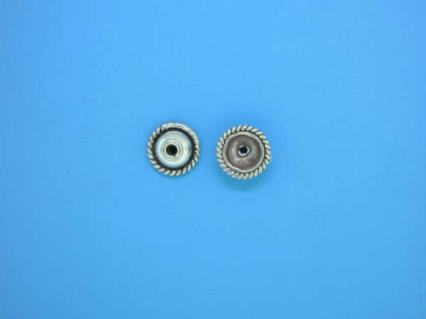 15261 - Bali Silver Bead Cap 4x8mm