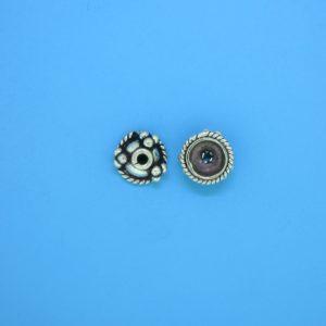 15263 - Bali Silver Bead Cap 4.5x9mm