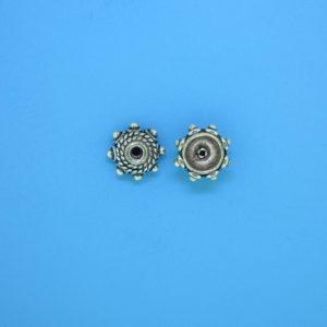 15264 - Bali Silver Bead Cap 5x8mm