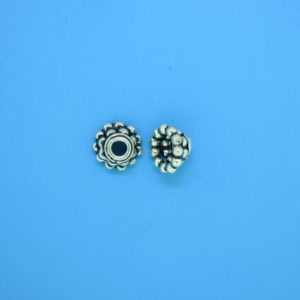 15267 - Bali Silver Bead Cap 4.5x8mm