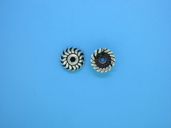 15268 - Bali Silver Bead Cap 4x9mm