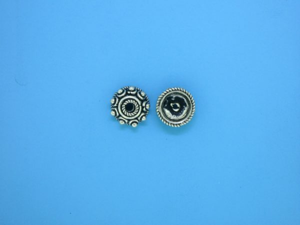 15269 - Bali Silver Bead Cap 3.5x8mm