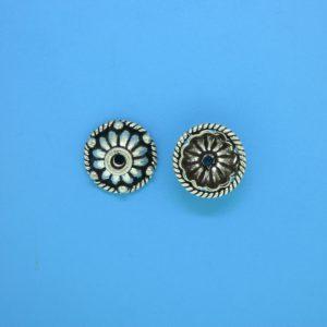 15272 - Bali Silver Bead Cap 5x11mm