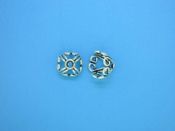 15273 - Bali Silver Bead Cap 7x11mm