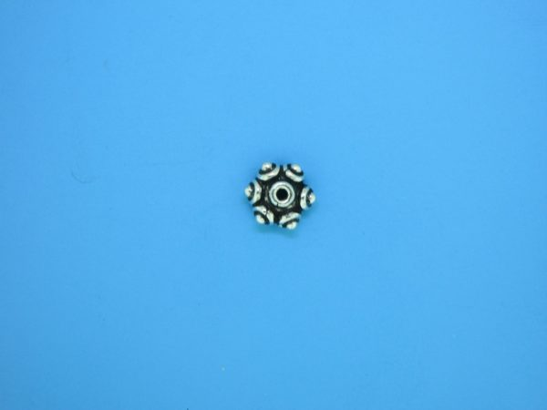 15275 - Bali Silver Bead Cap 4x8mm
