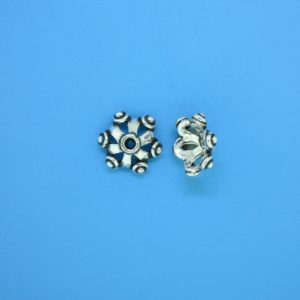 15276 - Bali Silver Bead Cap 4.5x11mm