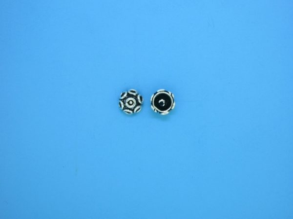 15281 - Bali Silver Bead Cap 3.5x6.5mm