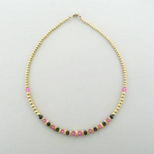 Gold Filled Necklace With Swarovski Crystal