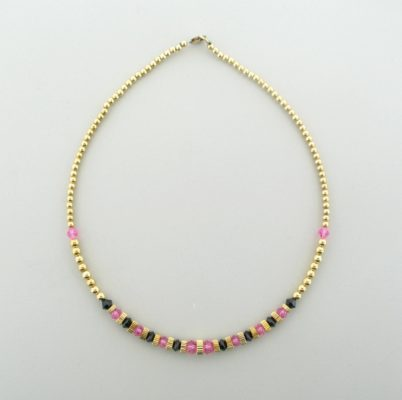 Gold Filled Necklace With Swarovski Crystal