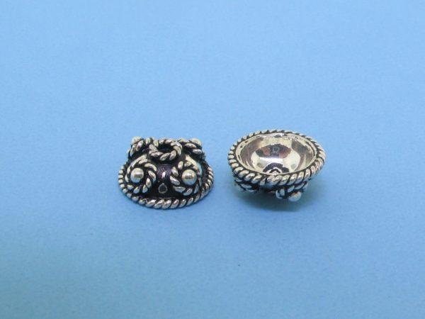 15283 - Bali Silver Bead Cap 4.5x10mm