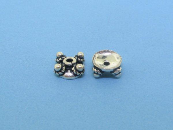 15255 - Bali Silver Bead Cap 3x7mm