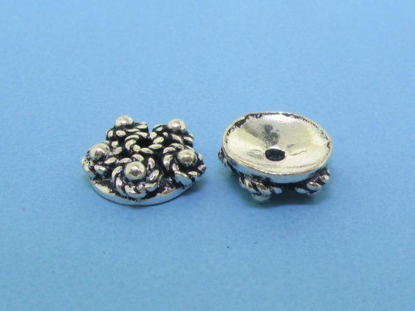 15266 - Bali Silver Bead Cap 3x9mm