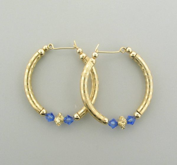#12020 - Gold Filled Earring With Swarovski Crystal