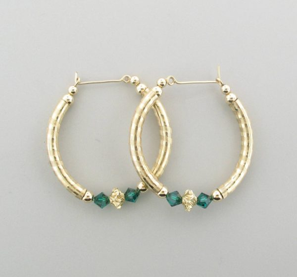 #12022 - Gold Filled Earring With Swarovski Crystal