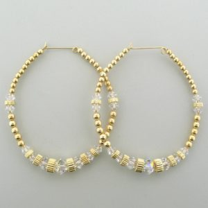 #12024 - 14K Gold Filled Earring With Swarovski Crystal