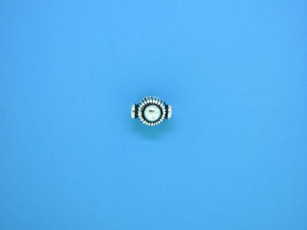 15298 - Bali Silver Bead 6.5x8mm