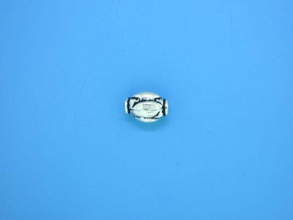 15304 - Bali Silver Bead 7x9.5mm