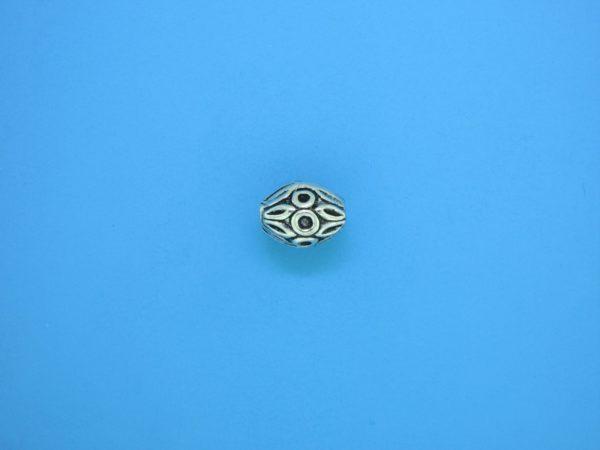 15307 - Bali Silver Bead 7x9mm