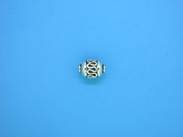 15312    - Bali Silver Bead 7x9mm