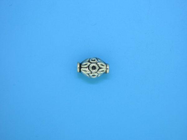 15313    - Bali Silver Bead 7x11mm