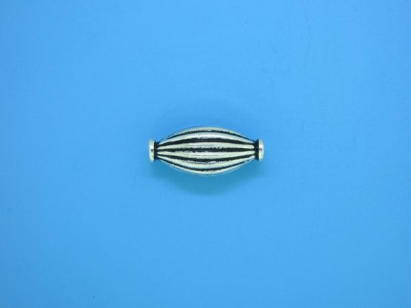 15327    - Bali Silver Bead 8x18mm