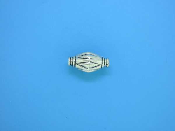 15329    - Bali Silver Bead 9x13mm