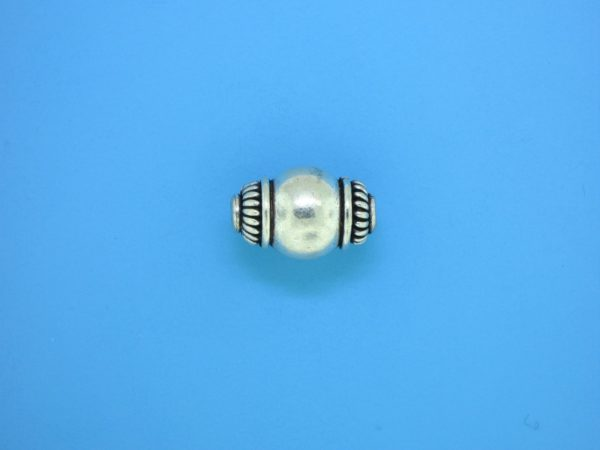 15331    - Bali Silver Bead 10x15mm
