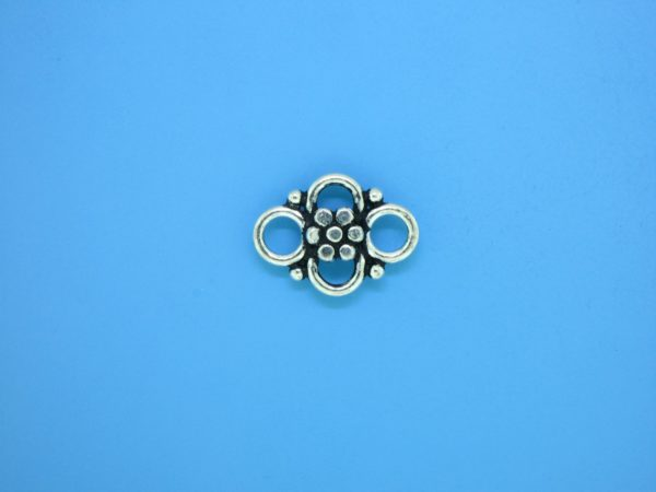 15374 - Bali Silver Connector 12x17mm