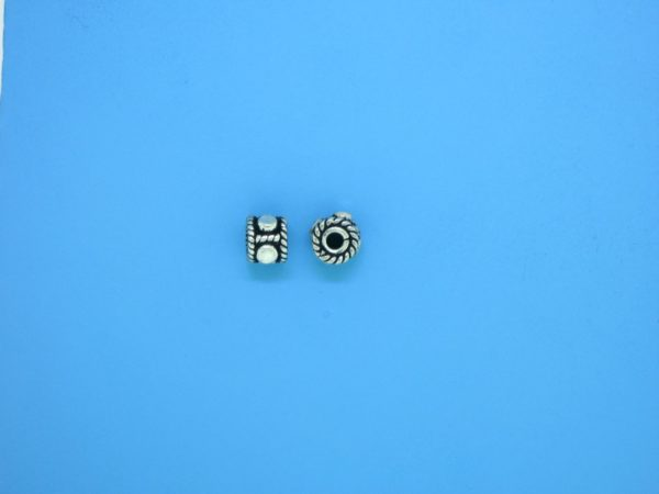 15384 - Bali Silver Spacer 4x5mm