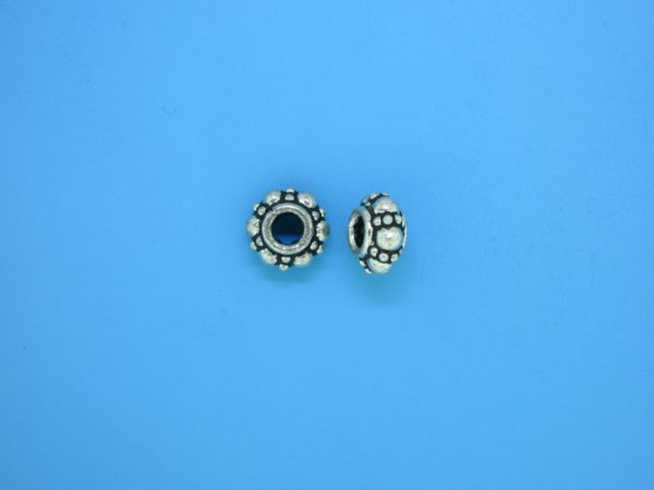 15385 - Bali Silver Spacer 4.5x8mm