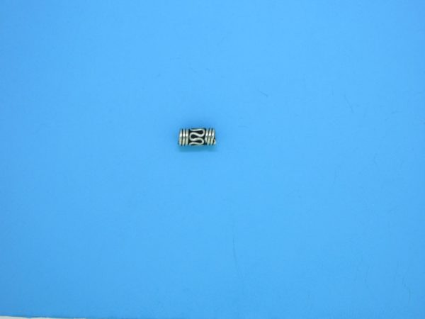 15387 - Bali Silver Tube Bead 3x7mm