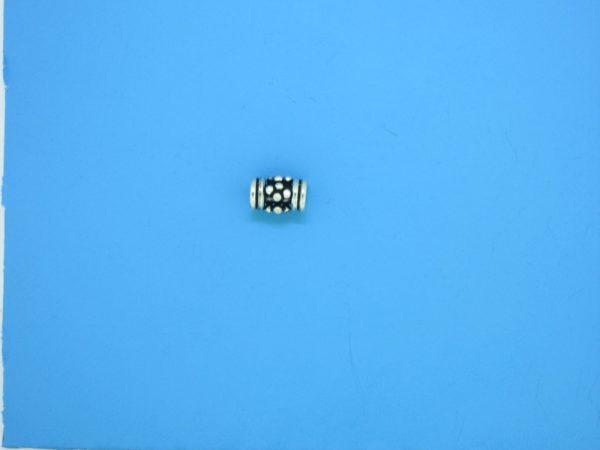 15388 - Bali Silver Tube Bead 4x6mm