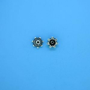 15389 - Bali Silver Bead Cap 4x6mm