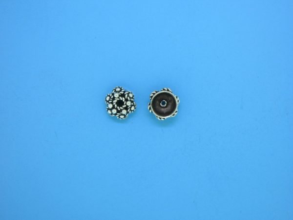 15391 - Bali Silver Bead Cap 4x6mm