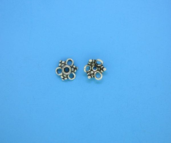 15392 - Bali Silver Bead Cap 4x8mm