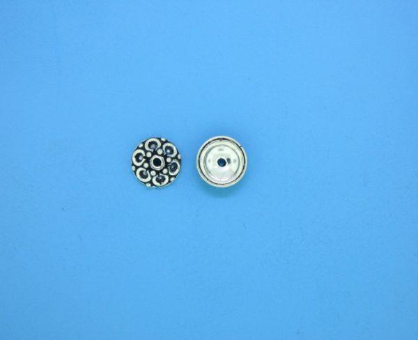 15393 - Bali Silver Bead Cap 3x7mm