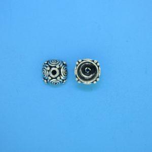 15395 - Bali Silver Bead Cap 5x8mm