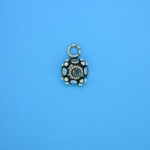 15400 - Bali Silver Charm 9x13mm