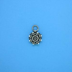 15402 - Bali Silver Charm 9x13mm