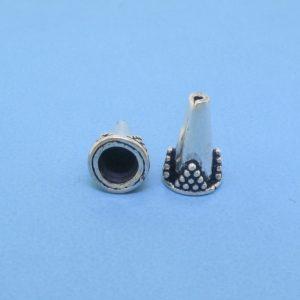 15404 - Bali Silver Open Cone 6.5x11mm
