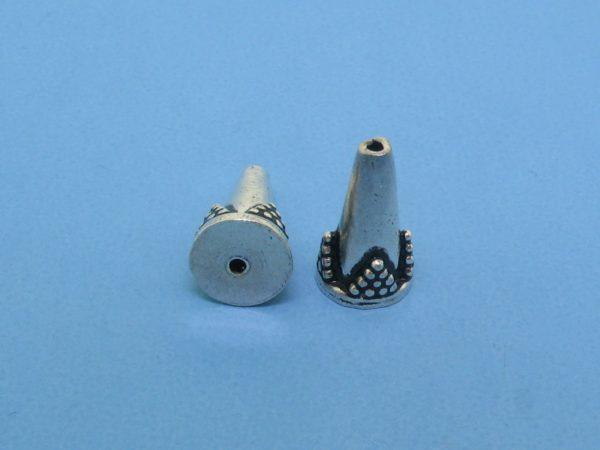 15403 - Bali Silver Cone 7x12mm