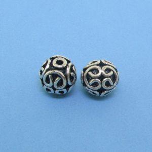 15034 - Bali Silver Bead 7x8mm