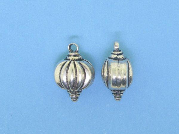 15356B- Bali Silver Bead 12x17mm