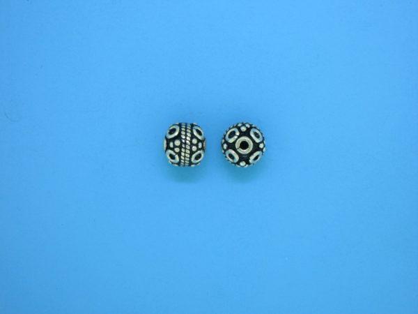 15412 - Bali Silver Bead 6.5x7mm