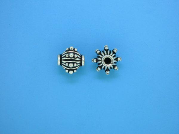 15417 - Bali Silver Bead 10x10mm